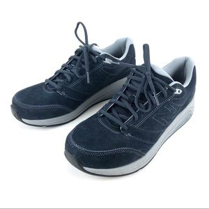 New Balance Comfort Rollbar Shoes Blue Suede Sz 11